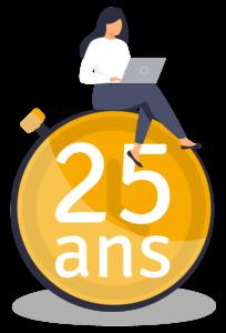 Logo anniversaire des 25 ans de POWER