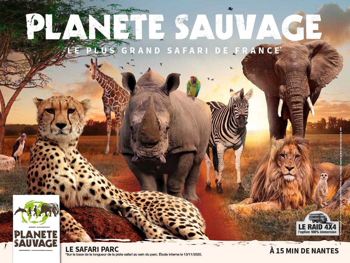 affiche Planete Sauvage - animaux et titre