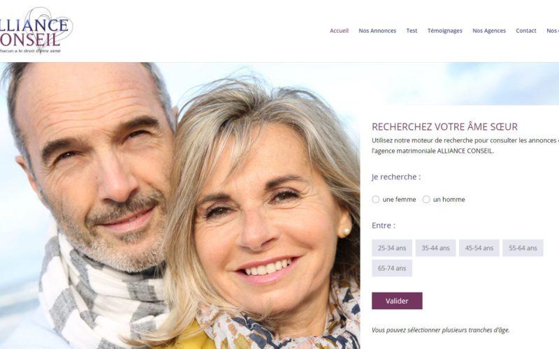 ALLIANCE CONSEIL, création d'un nouveau site internet pour une agence matrimoniale